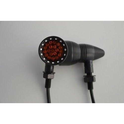 Black Aluminium Beehive Cone LED Indicators Turn Signal Indicators