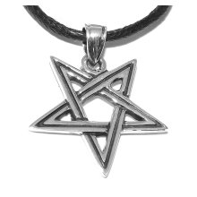 Inverted Pentagram (2nd Degree Wicca) Pentacle Satanism (Sterling Silver)
