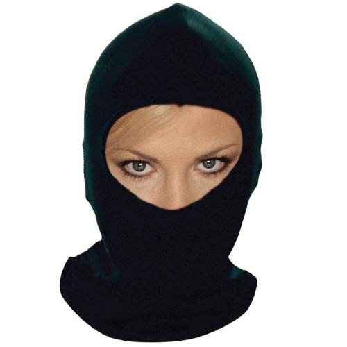 Black balaclava helmet inner liner thermal cotton motor cycle bike