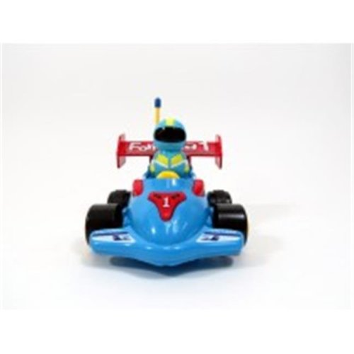 Cartoon RC Formula Race Car for Toddlers Blue, 4 in.