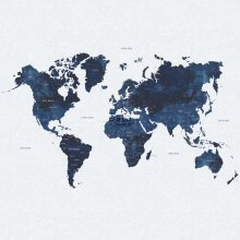 wall mural vintage world map blue - 158853