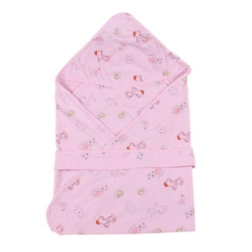 Lovely Cartoon Series Soft Baby Hooded Bath Towel, Pink (100*100CM)
