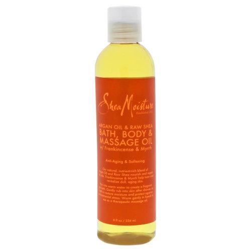 Argan Oil & Raw Shea Bath-Body & Massage Oil by Shea Moisture for Unisex - 8 oz Oil