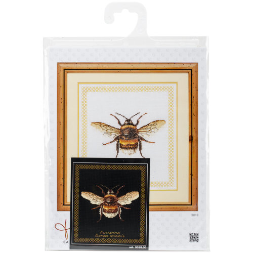 """Bumble Bee On Aida Counted Cross Stitch Kit-8""""X8.25"""" 18 Count"""
