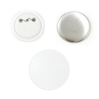 PixMax 58mm Badge Components for Pin Button Badge Pressing (100 Pack)