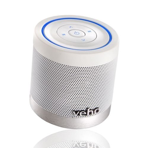 Veho M4 Bluetooth Speaker | Wireless Speaker | Portable | Rechargeable | Travel Speaker | Built in MP3 player - White (VSS-747-360BT)