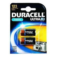 Duracell Ultra M3 Lithium Pack of 2 Lithium 3V non-rechargeable battery