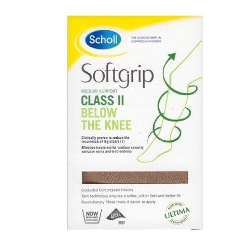 Scholl Softgrip Medium Support Class II Below The Knee Natural - Large