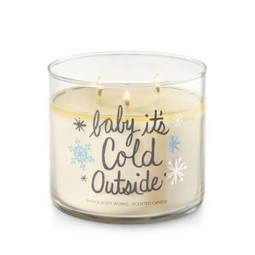 Bath Body Works Candle 3 Wick 14 5 Ounce Fireside Baby Its Cold