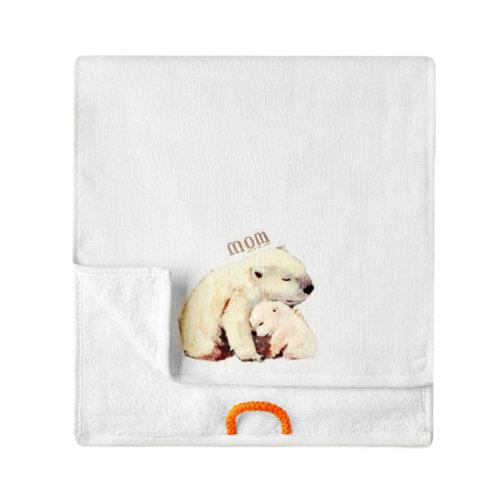 Lovely Design Soft Absorbent Cotton Towels for Kids 2 Pcs - Polar bear
