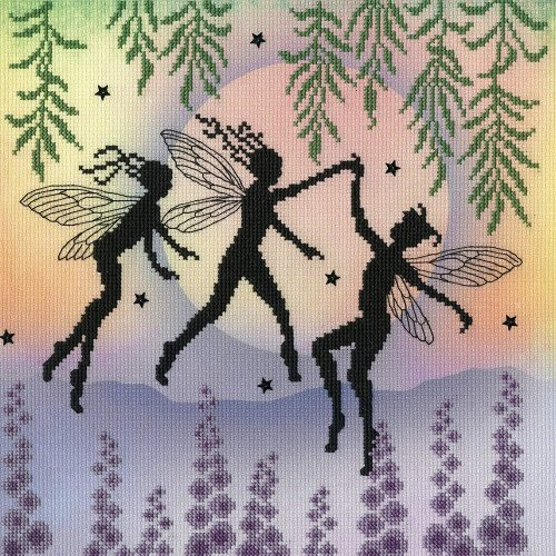 Bothy Threads Cross Stitch Kit - Fairy Dance - Fairy design developed from artwork by Lavinia Stamps XE14P