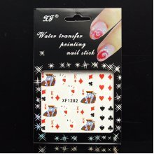 Poker Ace Nail Art Stickers Water Tips Decals Transfers