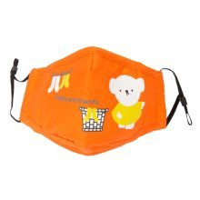 Cotton PM2.5 Anti-smog + N95 Activated Carbon Mask Children Masks Bear Orange