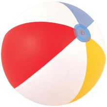 "16"" Multicoloured Panel Beach Ball - 16 Inflatable Swimming Bestway Pool Party -  ball beach 16 inflatable panel swimming bestway pool party holiday"