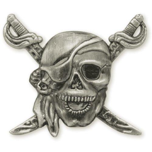 """Concho Antique Silver Screwback 1.25""""-Pirate"""