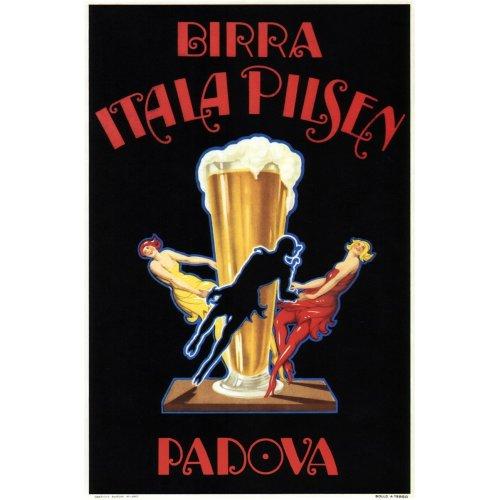 Advertising poster - Birra Itala Pilsen - High definition printing on stainless steel plate