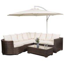 Marbella Rattan Corner Sofa Garden Furniture Set