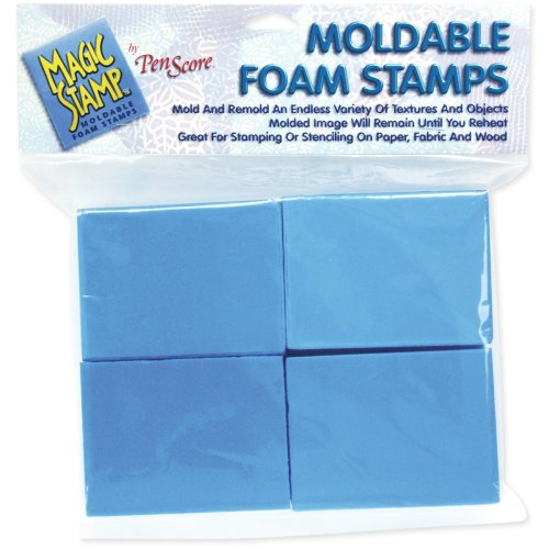 Magic Stamp Moldable Foam Stamps 8/Pkg-Blocks