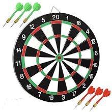 New 12'' Dartboard Dart Board With 6 Darts Ideal Game Gift Fun Play Top Quality -  game 12 round dart board dartboard 6 darts party toy playset uk fun