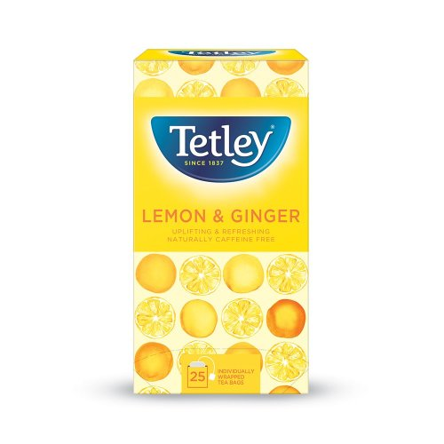 Tetley Lemon & Ginger Tea Enveloped 25