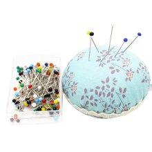 Wrist Wearable Pin Cushions and 50 Pins Set for Needlework - 08