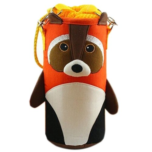 Lovely Baby Bottle Messenger Bag/Keep Warm (22*9*9CM),Orange Raccoon
