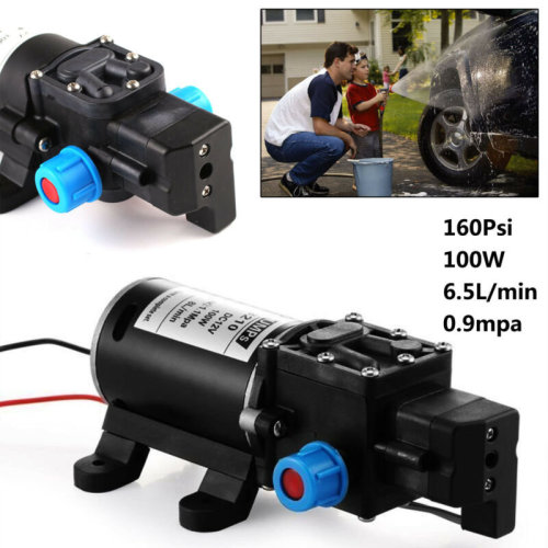 12V DC 160Psi High Pressure Diaphragm Self Priming Water Pump 6.5L/min 100W Wash