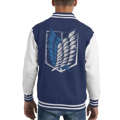 Attack On Titan Wings Of Freedom Kid's Varsity Jacket
