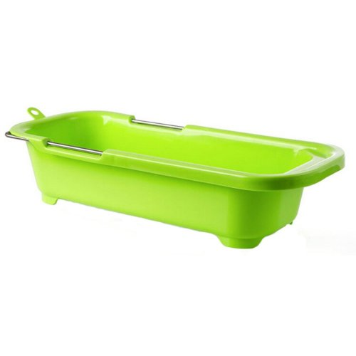 Dish Drainer Rack Collapsible Over Sink Dish Drainer GREEN