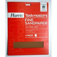 Harris Taskmasters Sandpaper 329 -  Coarse (Pack of 4)