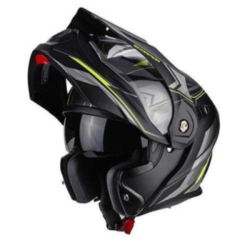 Scorpion 2596_26439 ADX 1 Anima Motorcycle Helmets, Black/Yellow, Size M