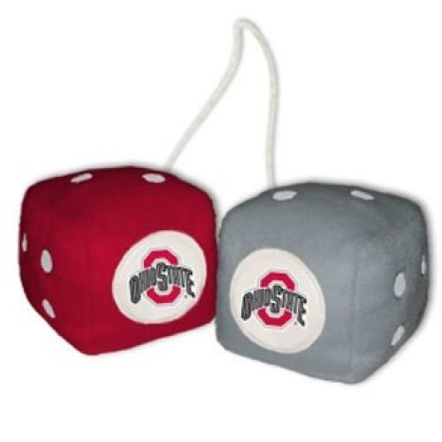 NCAA Ohio State Buckeyes Football Team Fuzzy Dice, Red