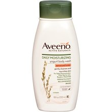 Aveeno Active Naturals Daily Moisturizing Body Yogurt Body Wash, Apricot And Honey, 18oz