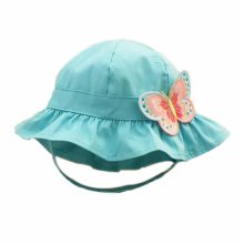 Summer Baby Girl Caps Cotton Sun Hat For 2-3 Years Baby Blue