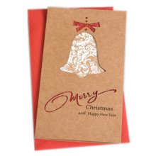 Christmas Cards Greeting Cards Christmas Gift Xmas Cards (4 Cards and Envelopes), Brown # 15