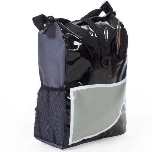 Bike bag water-repellent black/grey