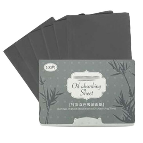 Facial Oil Blotting Paper Bamboo Charcoal Oil Absorbing Tissues, 300 Sheets