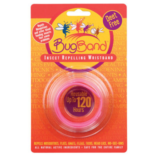 BugBands Reusable Bug Wristband Pink