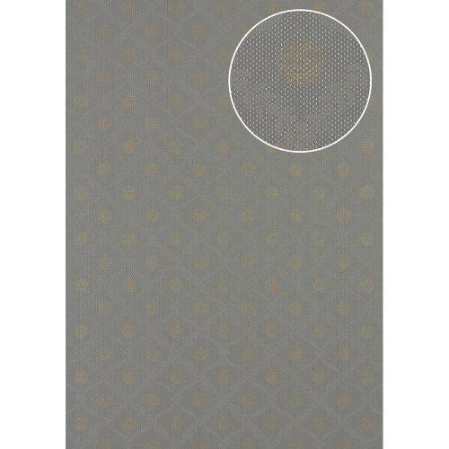Atlas PRI-550-2 Baroque wallcovering wall shimmering dusty-grey 5.33 sqm
