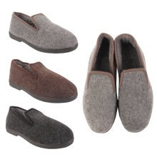 Jacob Mens Felt Fur Lined Slippers Shoes