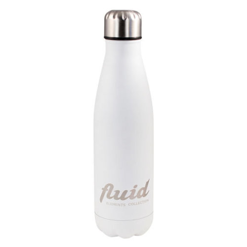 Fluid 500ml Cool or Hot Stainless Steel Reusable Water Bottle Arctic White