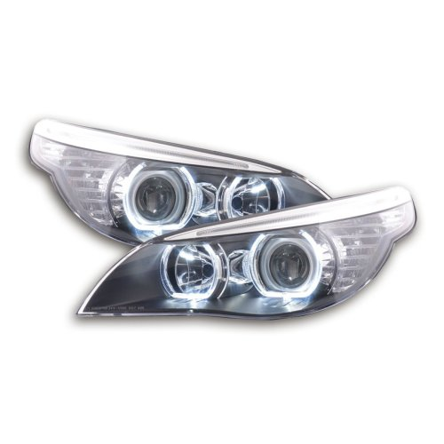 Angel Eye headlight LED BMW 5er E60/E61 Year 2003-2006 black