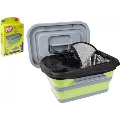 18l Folding Cool Box Lime / Grey -  18l folding cool box lime grey