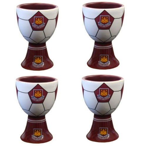 4 x West Ham United Egg Cups - Official West Ham Egg Cups