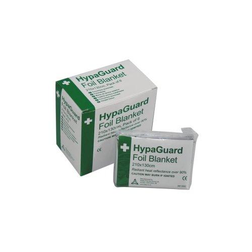 HypaGuard Disposable Foil Blankets - 210 x 130cm - Pack of 6