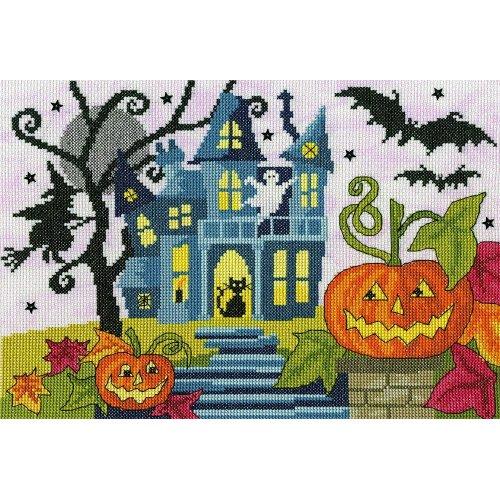 Bothy Threads Cross Stitch Kit - Spooky! - Halloween - developed from art work by Julia Rigby XJR35
