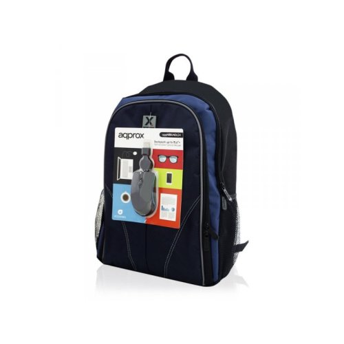"Approx NBBUNDLE4 15.6"" Notebook backpack Black,Blue"