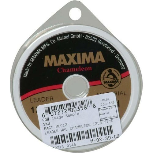 Maxima Fishing Line Leader Wheel, Chameleon, 4-Pound/27-Yard