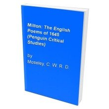 Milton: the English Poems of 1645 (penguin Critical Studies)