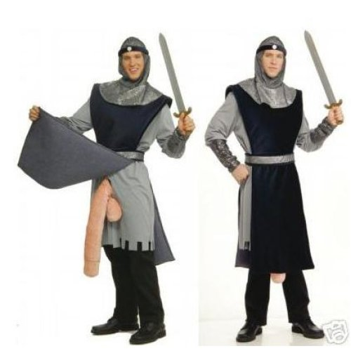Men's Rude Knight To Remember Costume -  knight remember fancy dress costume medieval stag adult mens rude